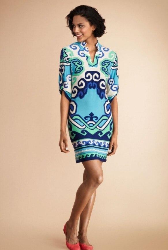 Robes de soirée vente limitée dans le temps femmes robe d'été 2017 fantaisie col montant Type de chemise une-pièce robe mode tricoté élastique