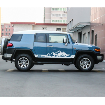 car sticker 2 Pcs side door sticker mountains styling graphic vinyl car decal custom fit for toyota FJ CRUISER
