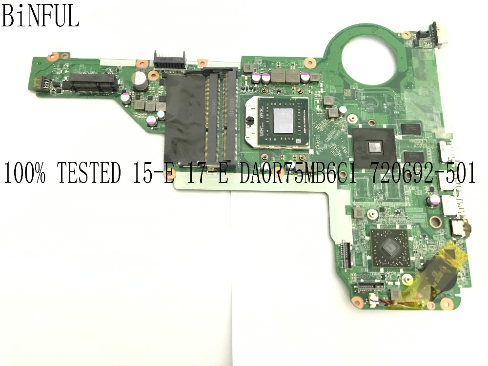 BiNFUL SUPER 100% TESTED  720692-501 DA0R75MB6C1 MAINBOARD LAPTOP MOTHERBOARD FOR HP PAVILION 15-E 17-E NOTEBOOK PC WITH CPUBiNFUL SUPER 100% TESTED  720692-501 DA0R75MB6C1 MAINBOARD LAPTOP MOTHERBOARD FOR HP PAVILION 15-E 17-E NOTEBOOK PC WITH CPU