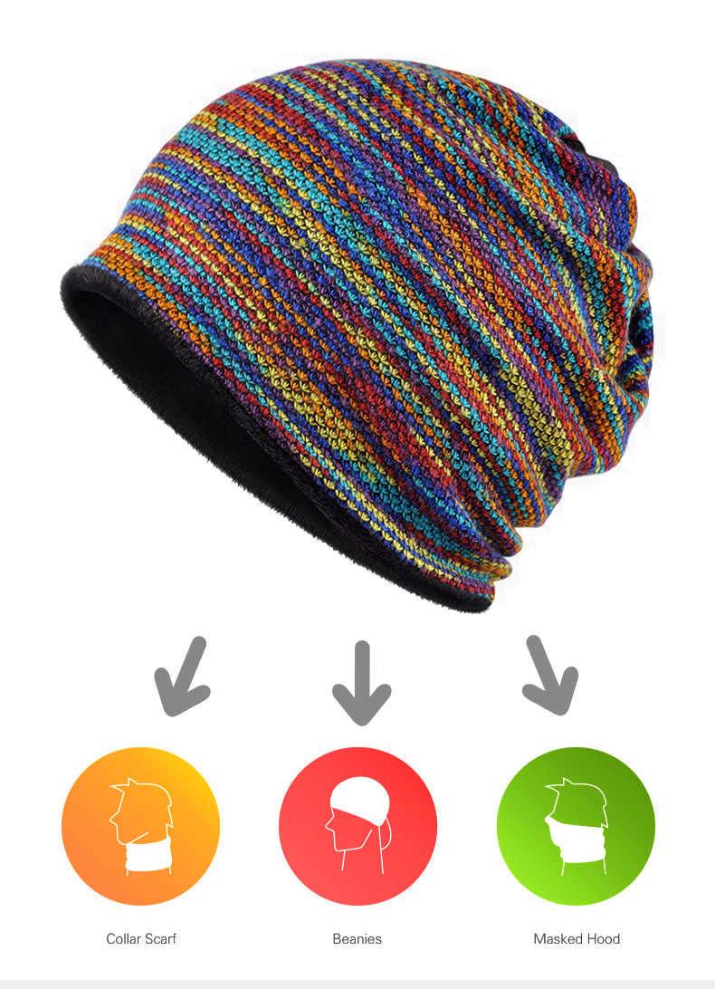 [AETRENDS] gorros de invierno, bufanda de cuello para mujeres o hip hop para hombres, sombreros cálidos con Z-5008 interior de terciopelo