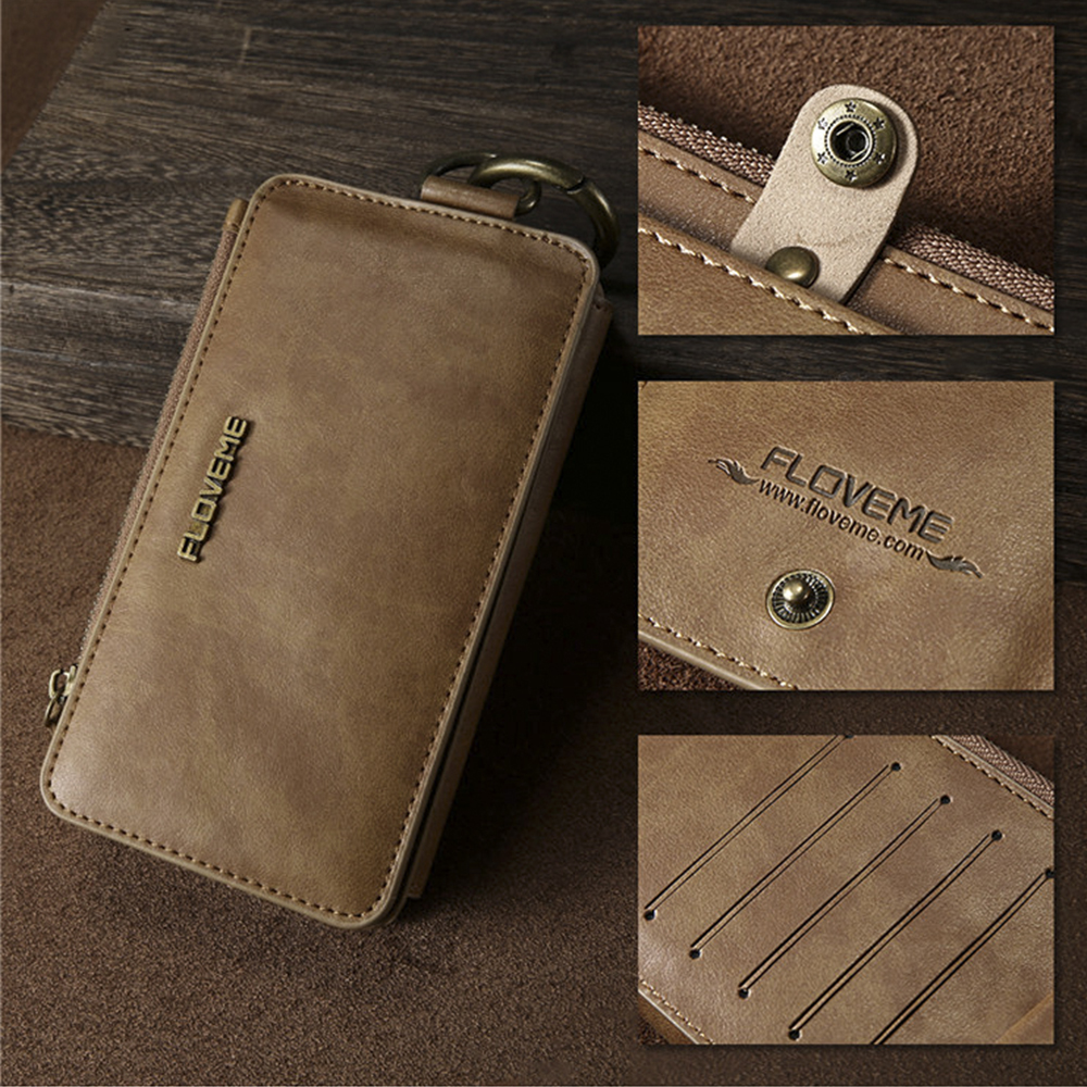 Floveme Leather Wallet Phone Bag Case For Samsung Galaxy