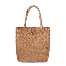 купить Hand Woven Large Rattan Straw Bag Flower Basket Storage Tote Female Bags Travel Handbag Shopping Braided Hand Bag For Women Girl по цене 463.08 рублей