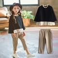 Одежда для девочек коллекция 2019 года, весенние комплекты одежды для девочек детская одежда, толстовки + штаны, брюки костюм из 2 предметов ко...