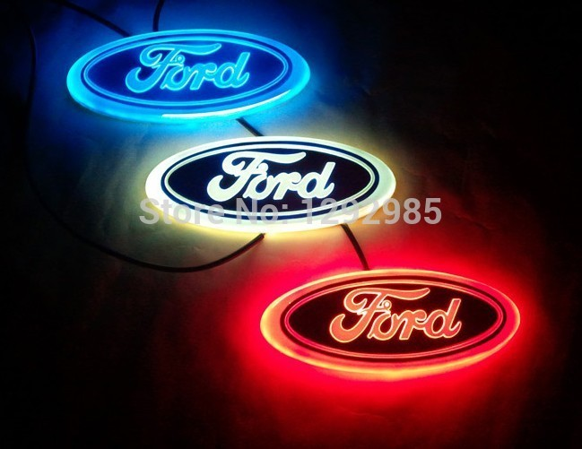 4d Logo For Ford Focus Modeo Kuga Logo Light 4d Led Rear