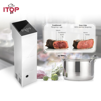ITOP 110V 220V Sous Vide Circulator Specific Thermal Immersion time Temp Control Chef Cooker Food Processors