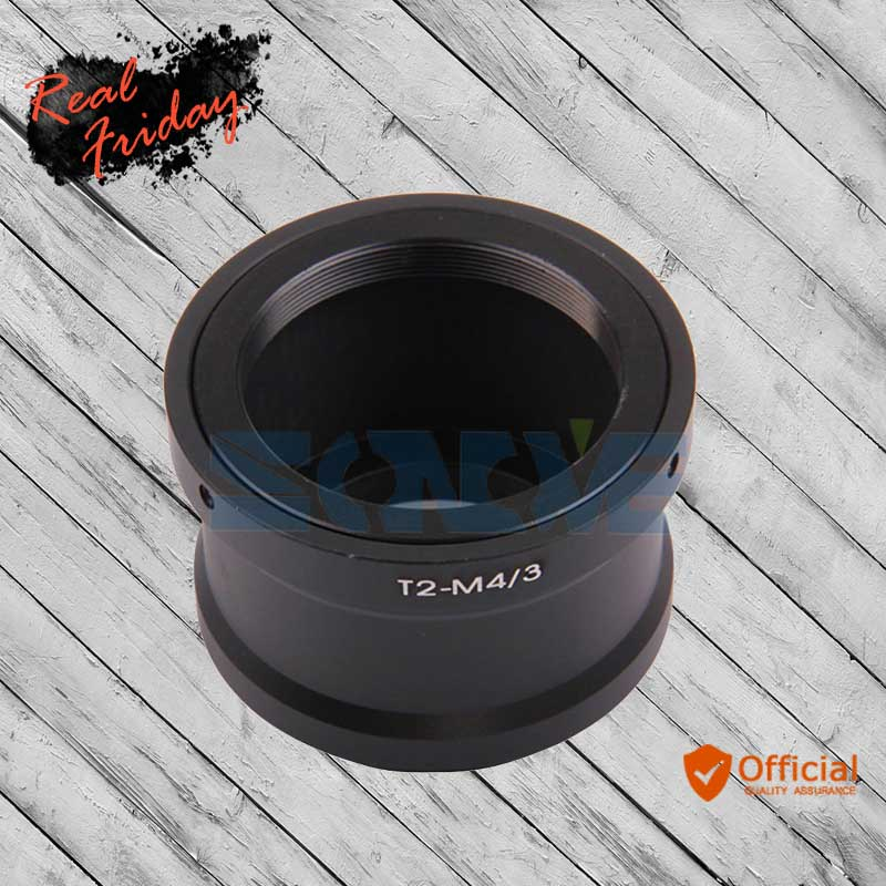 T2 T mount Lens to Micro 4/3 M4/3 Mount Adapter for Panasonic Olympus M4/3 GH4 GH2 GH3 GF3 GF5 E-P3 E-PL3 E-PL5 E-PM1 E-M5 II
