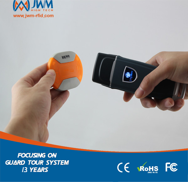 JWM impermeable IP67 Durable RFID guardia Sistema de patrulla con nube libre