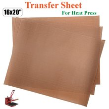 3 Pack 16x20inch Reusable Transfer Sheet For Heat Press Craft Pad Applique Ironing