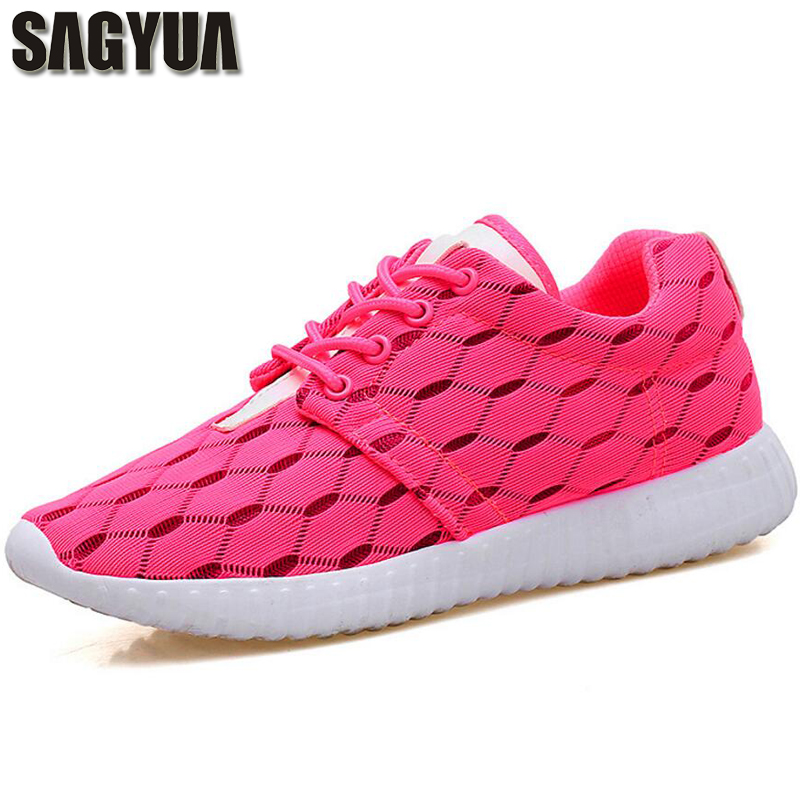 SAGYUA Lovers Women Ladies Girl Young Fashion Summer Female Shoes Casual Soft Lightweight Plimsolls Zapatillas Flats Shoes T385 2017 new summer zapato women breathable mesh zapatillas shoes for women network soft casual shoes wild flats casual shoes