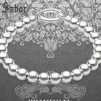 jewellery Bracelet Beaded Cuff with Silver Spring Clasp 2019 New 925 Silver Fashion Jewelry Gift Men Boy Women Girls mens