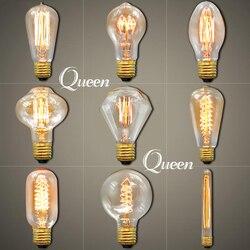 Vintage lamp edison bulb e27 220v 40w light retro lighting ceiling lampadas incandescent bulb filament edison.jpg 250x250