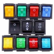 KCD4 вкл.-ВЫКЛ.-ВКЛ. 6 P/вкл.-ВЫКЛ. 4P фиксация кулисный переключатель 16A 250VAC цветной светильник