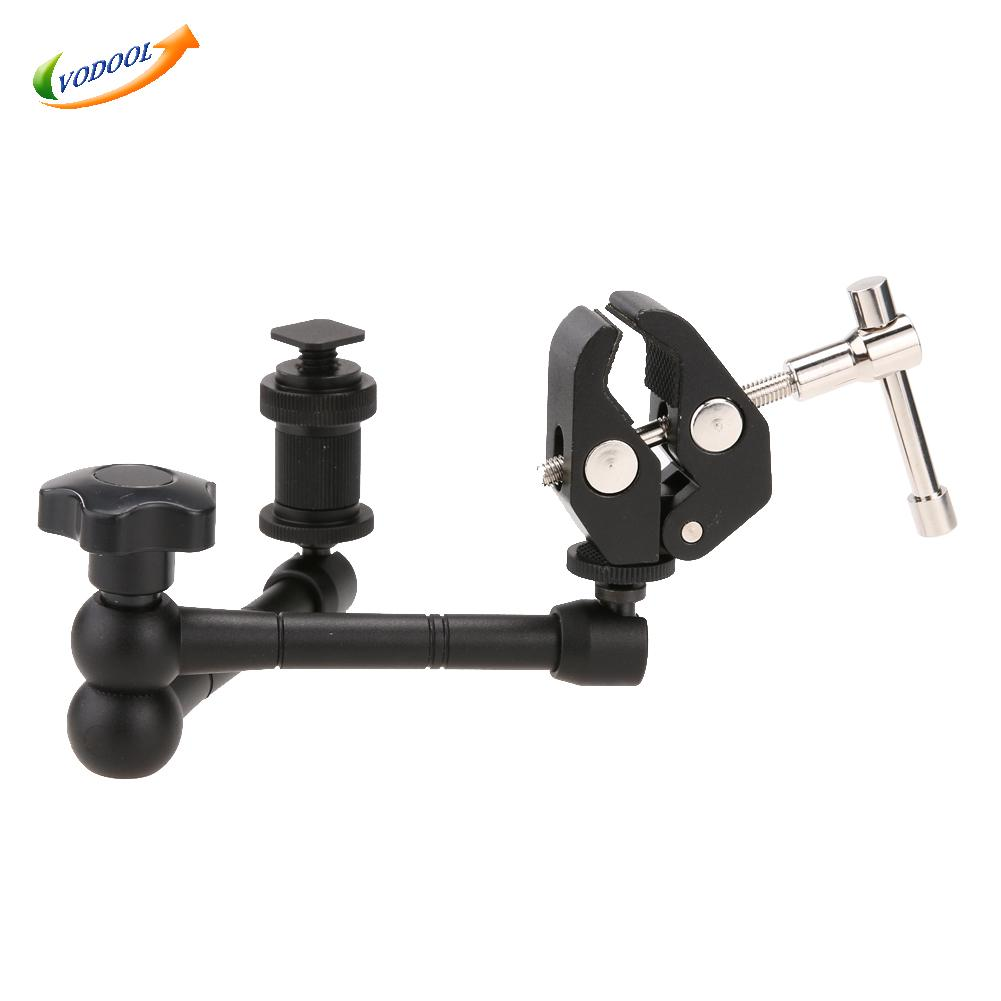 11 inch DSLR Rig Movie Kit Articulating Magic Arm With Super Clamp Crab Plier Clip For Camcorder LCD Monitor Led Flash Light