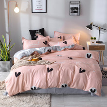 Bedding Set Nordic Comforter Duvet Cover Bedspread Single Double Bed Sheet Linen Adult Queen King Pattern Bedclothes45(China)