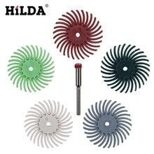HILDA 6 шт деталей абразивные кисти смешанные крупной зернистости Dremel аксессуары для Dremel роторные инструменты