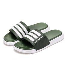 купить DAOKFPO Men Summer Slippers Fashion Beach Shoes Soft Bathroom Home Slippers Cool Outdoor Flip Flops 2019 New Arrival size 39-45 по цене 870.49 рублей