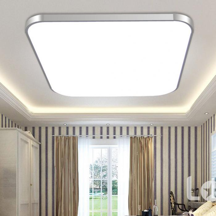 HTB1ubSqXRGw3KVjSZFwq6zQ2FXaX LED Ceiling Down Light Lamp 24W Square Energy Saving For Bedroom Living Room MAL999