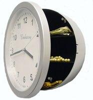 Creative Wall Clock Fashion Saving Money Box Jewellery Storage Box Piggy Bank Plastic Jewelry Money Hidden