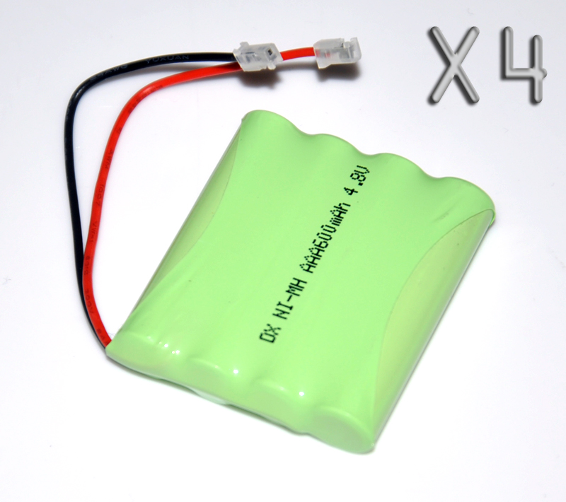 4PCS 4.8V AAA 600mah rechargeable battery pack 3A ni-mh nimh batteries NI MH cell for RC toys emergency light cordless phone
