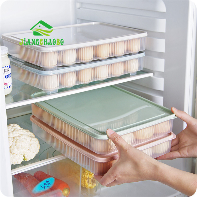 jiangchaobo can be stacked egg storage box 24 egg care kitchen with a dust