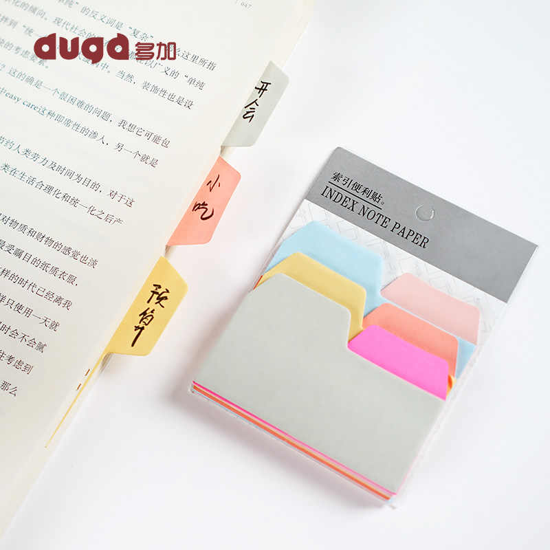Coloré Simple auto-adhésif N fois index bloc-Notes Notes autocollantes signet fournitures de bureau scolaire