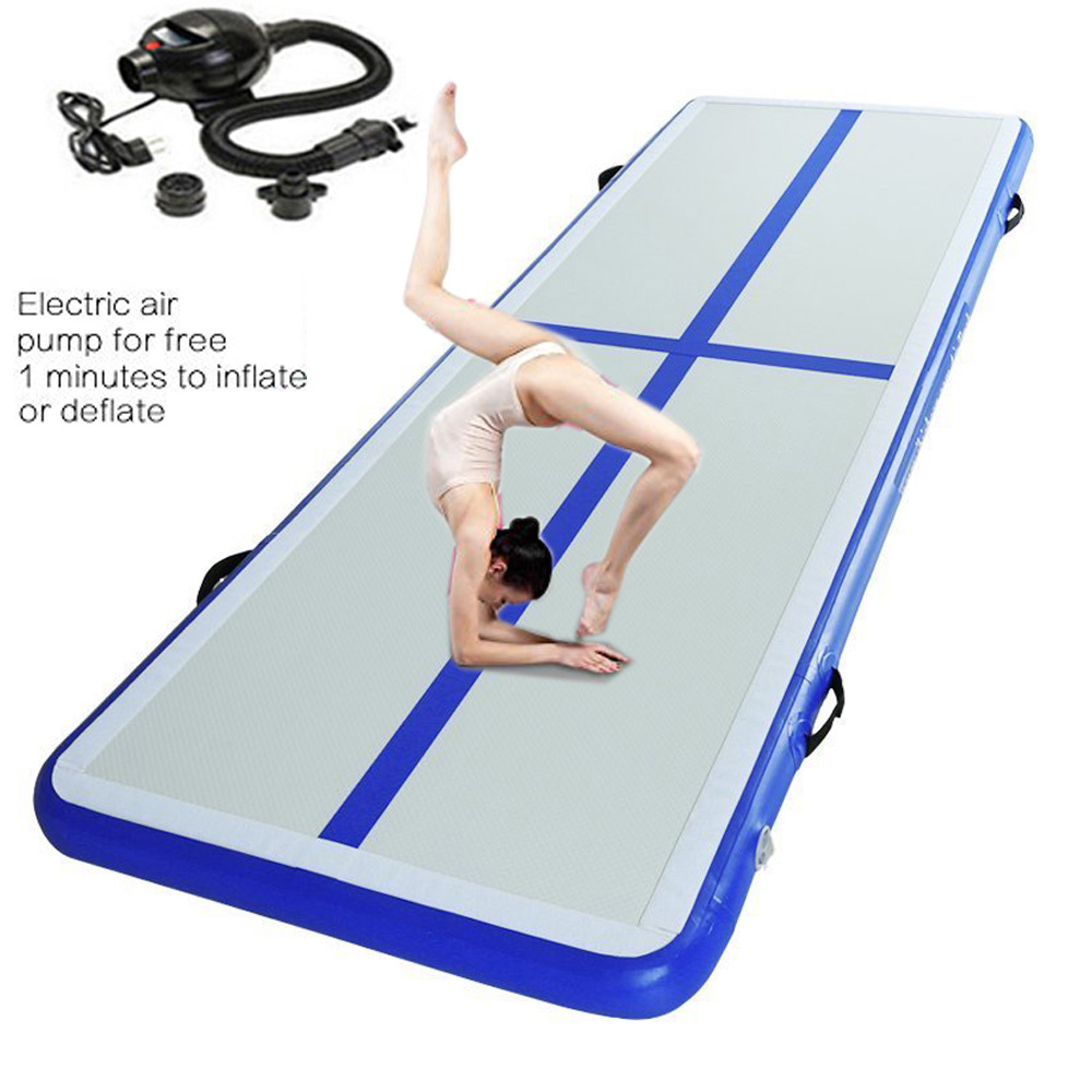 2019 New Inflatable Track Gymnastics Mattress Gym Tumble Airtrack Floor Yoga Olympics Tumbling Wrestling Yogo Electric Air Pump