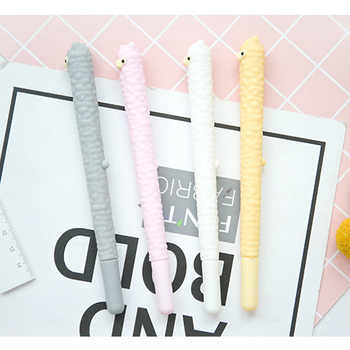 36pcs kawaii gel ink pen silicone lovely alpaca pens for school student office writing supplies cartoon cute korean stationary