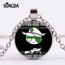 SONGDA Rainbow Six Siege Pendant Necklace Glass Dome Game Jewelry Charms Accessories Pendants For Game Fans Classic Collection(China)