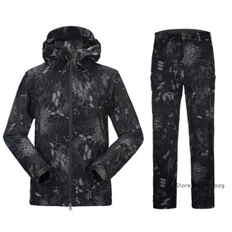 Military Tactical Men US Army Windproof Waterproof Clothes Soft Shell Outdoor Military Sport Jacket or pants ...