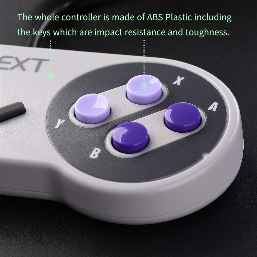 Wired USB Gamepad SNES game controller Retro gaming joypad joystick For Nes UK control (4)