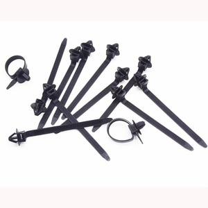 Image 4 - Xiaobaishu 50 Stuks Auto Kabel Bevestiging Ties Nylon Zwarte Auto Auto Kabel Strap Push Mount Draad Tie Retainer Clip Klem voor Alle Auto S