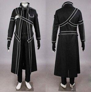 Меч искусство онлайн косплей костюм Кирито одежда Нагрудный значок эмблема и пояс для вечеринки на Хэллоуин Бесплатная доставка