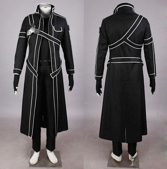 ̿̿̿(•̪ )Espada de arte en línea Cosplay kirito ropa pecho insignia ...