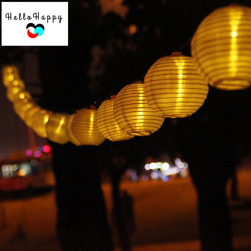 Solar Light 20 LEDs Outdoor Lantern String Light Solar Lamp Garden Decoration Lampe Luminaria ...