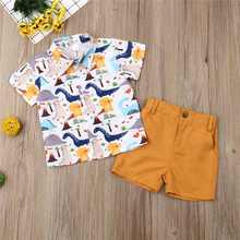 Kid Boys Clothes Set Cartoon Printed T-shirt + Shorts