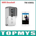 Wireless/wired video intercom wifi peephole DoorBell Original English Version support two-way intercom