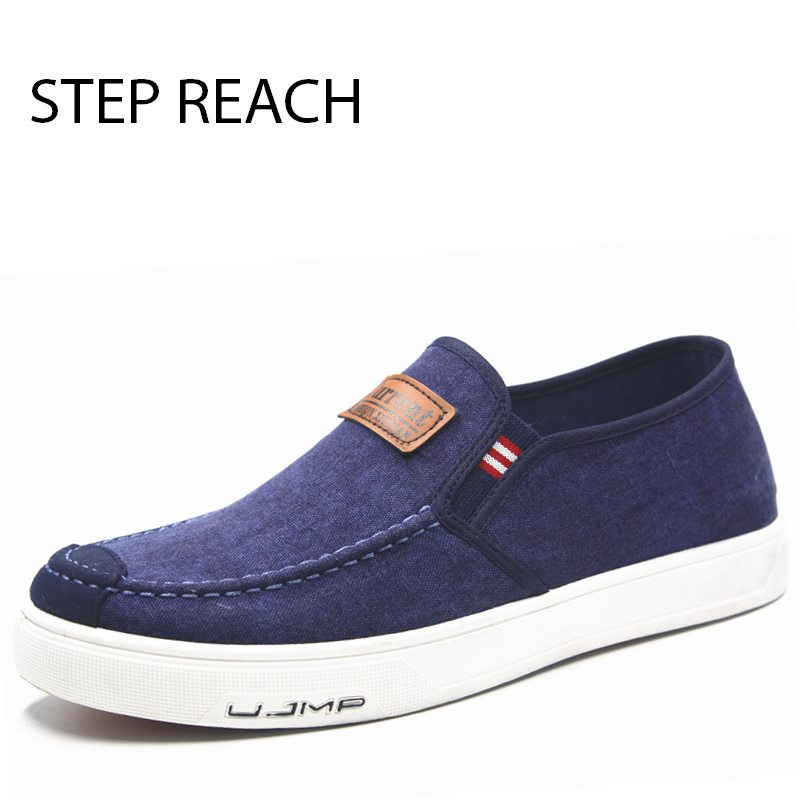 STEPREACH Brand shoes men zapatos hombre chaussure sapato masculino pokemon breathable light adult slip-on casual canvas denim