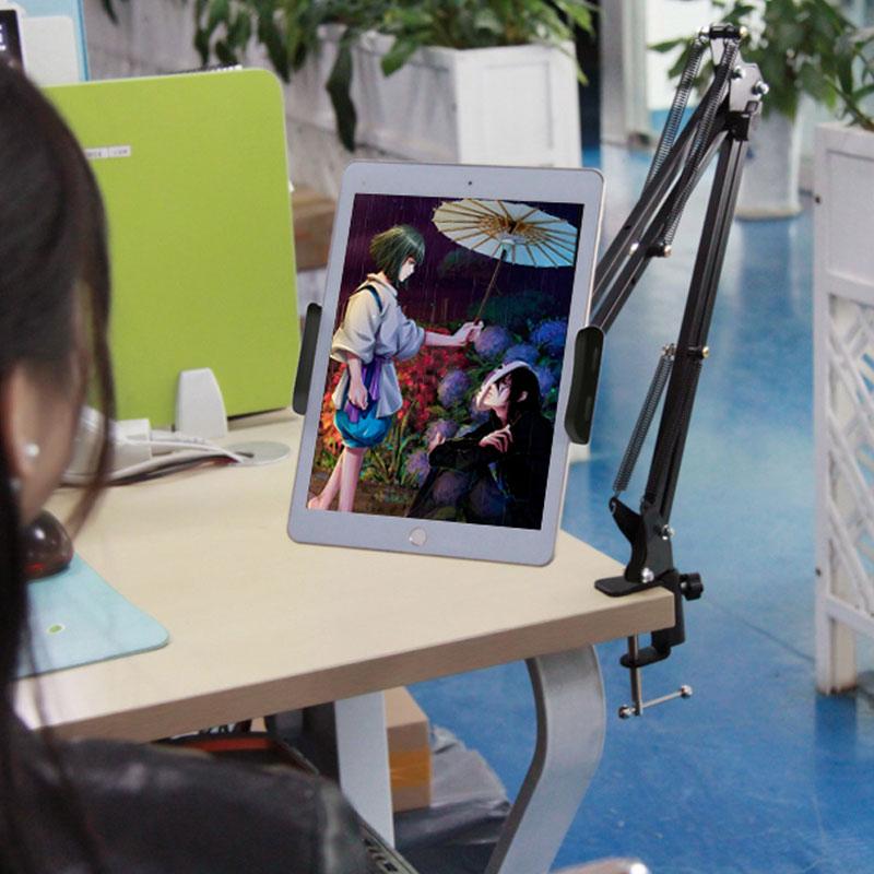 Image 2 - Подставка для планшета, держатель для телефона, Универсальный вращающийся на 360 градусов Гибкий Длинный держатель для ленивых телефонов, зажим для 6 11 дюймового планшетаПодставки для планшетов   -