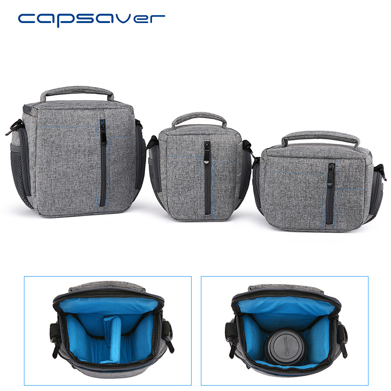 capsaver DSLR Camera Bag Single Shoulder Waterproof Carry Bag Removable Interior Dividers Camera Video Soft Case with Rain Cover