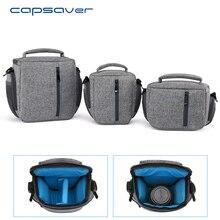 Capsaver DSLR Câmera Saco de Ombro Único Saco de Transporte À Prova D' Água Câmera de Vídeo Divisórias Interiores Removíveis Soft Case com Capa de Chuva