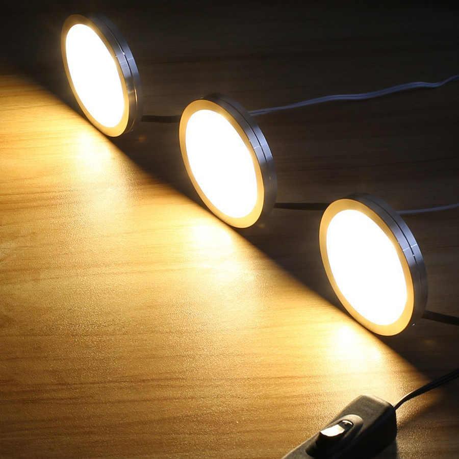 3 шт. светодиодная подсветка под шкаф с регулируемой яркостью шкаф кухонная мебель светильник s светодиодный шайба светильник украшение дома шкаф ночные лампы