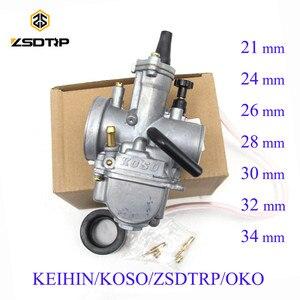 Image 1 - ZSDTRP Универсальный Keihin Koso OKO карбюратор для мотоцикла 21, 24, 26, 28, 30, 32, 34 мм с электроструей, Байк для грязи, 125 куб. См, 250 куб. См
