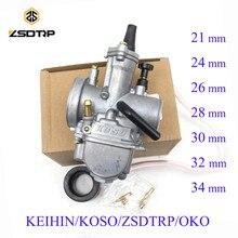 مكربن دراجة نارية ZSDTRP Universal Keihin Koso OKO 21 24 26 28 30 32 34 مللي متر مع نفاثة طاقة دراجة ترابية 125cc 250cc Carburador