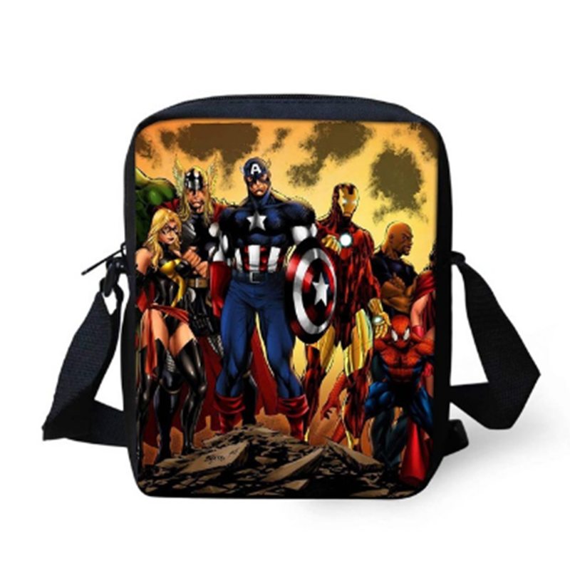 337fcf326d89 Подробнее Обратная связь Вопросы о Мстители мини сумки через плечо  супергерой Железный человек Тор Капитан Америка мальчики девочки книга сумки  через плечо ...