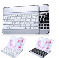 Wireless Slim Aluminum Mobile Bluetooth 3 0 Keyboard Case With Charging Cable Classic Silver Black Cover