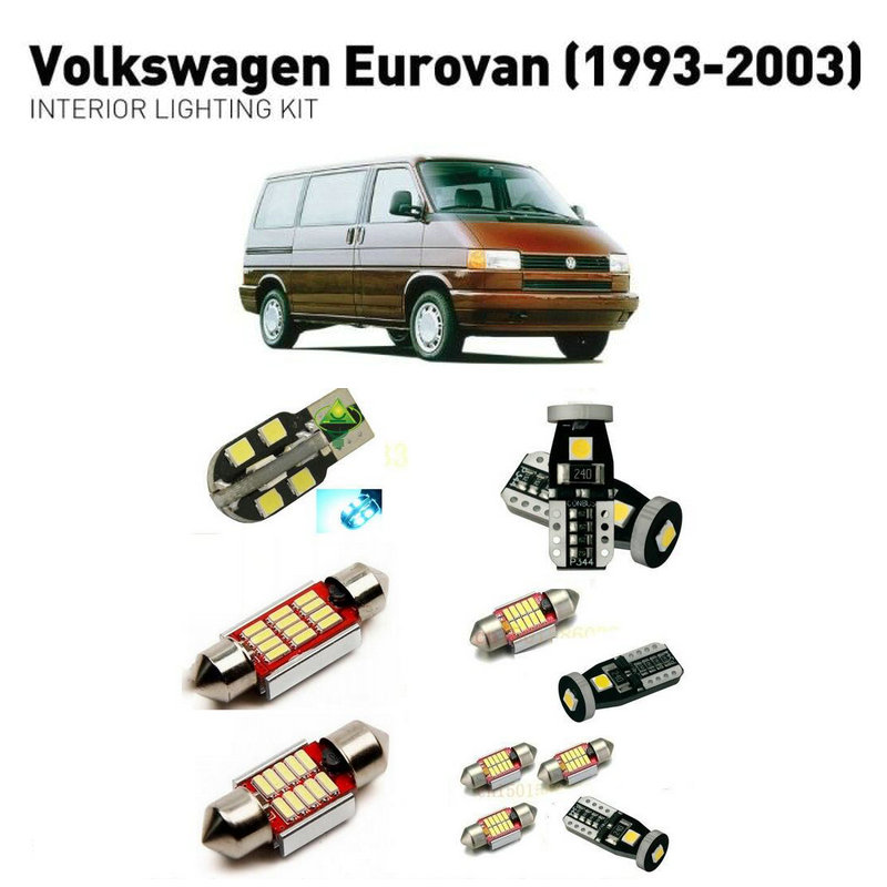 Led interior lights For volkswagen eurovan 1993 2003 14pc Led Lights For Cars lighting kit automotive bulbs Canbus in Car Light Assembly from Automobiles Motorcycles
