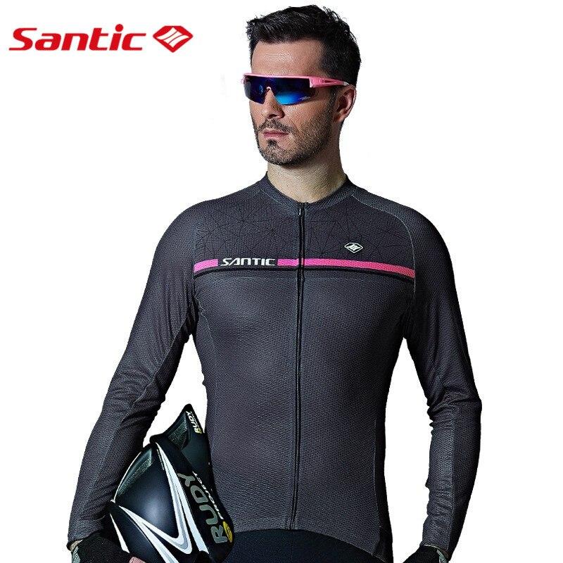 Santic Hommes À Manches Longues Maillots de Cyclisme Pro Fit Vélo De Route VTT Top Jersey Printemps Eté Vélo Vêtements WM7C01079