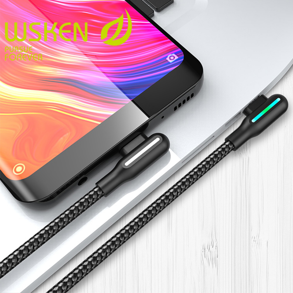 Wsken 3A USB Type C Fast Charging USB C Cable Type c Data Cord Android Charger Micro Cable for Samsung S10 8 S9 Note 9 Xiaomi 9|Mobile Phone Cables| |  - AliExpress
