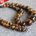 For Necklace 6-14mm Natural Tiger eyes beads Tigereye Necklace women girls jasper beads 18inch Jewelry making design wholesale