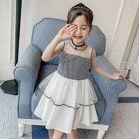 Dress girls summer 2019 new girls sleeveless little girl foreign style trendy strapless princess dress